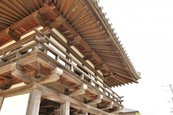 7慈光寺鐘楼軒先扇垂木