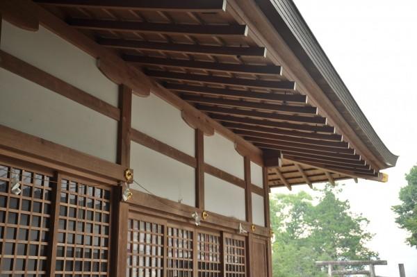 日枝神社拝殿 屋根曲線①