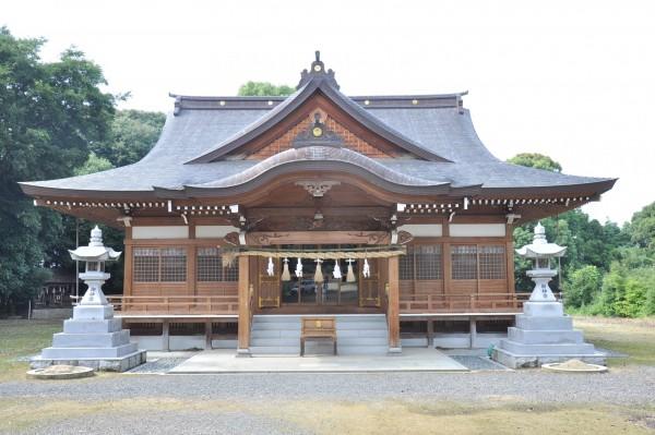 菅生神社拝殿 向拝