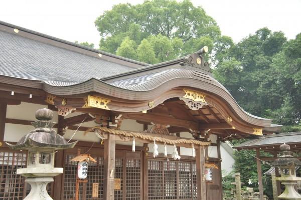 日枝神社拝殿 向拝唐破風屋根曲線