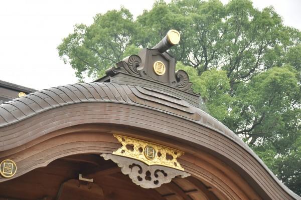 日枝神社拝殿 向拝唐破風拝み