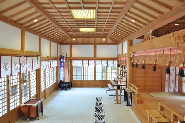 日枝神社拝殿 内部
