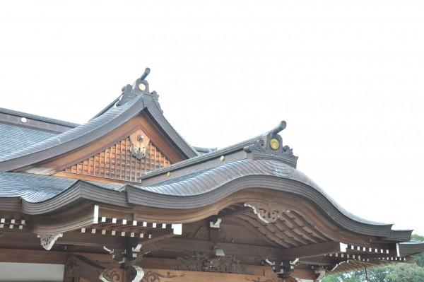菅生神社拝殿 屋根曲線美①
